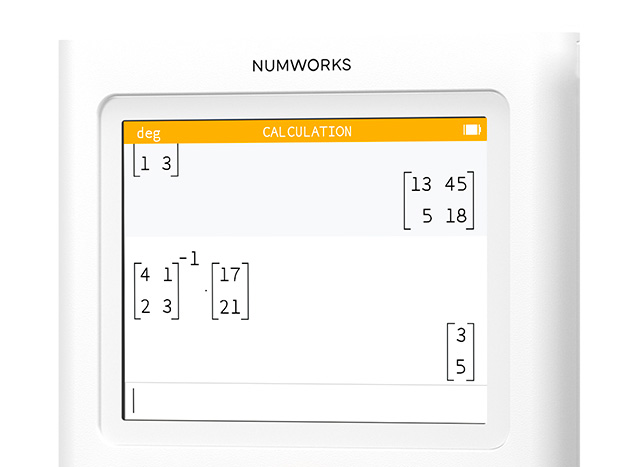 Calculation app on the NumWorks graphing calculator