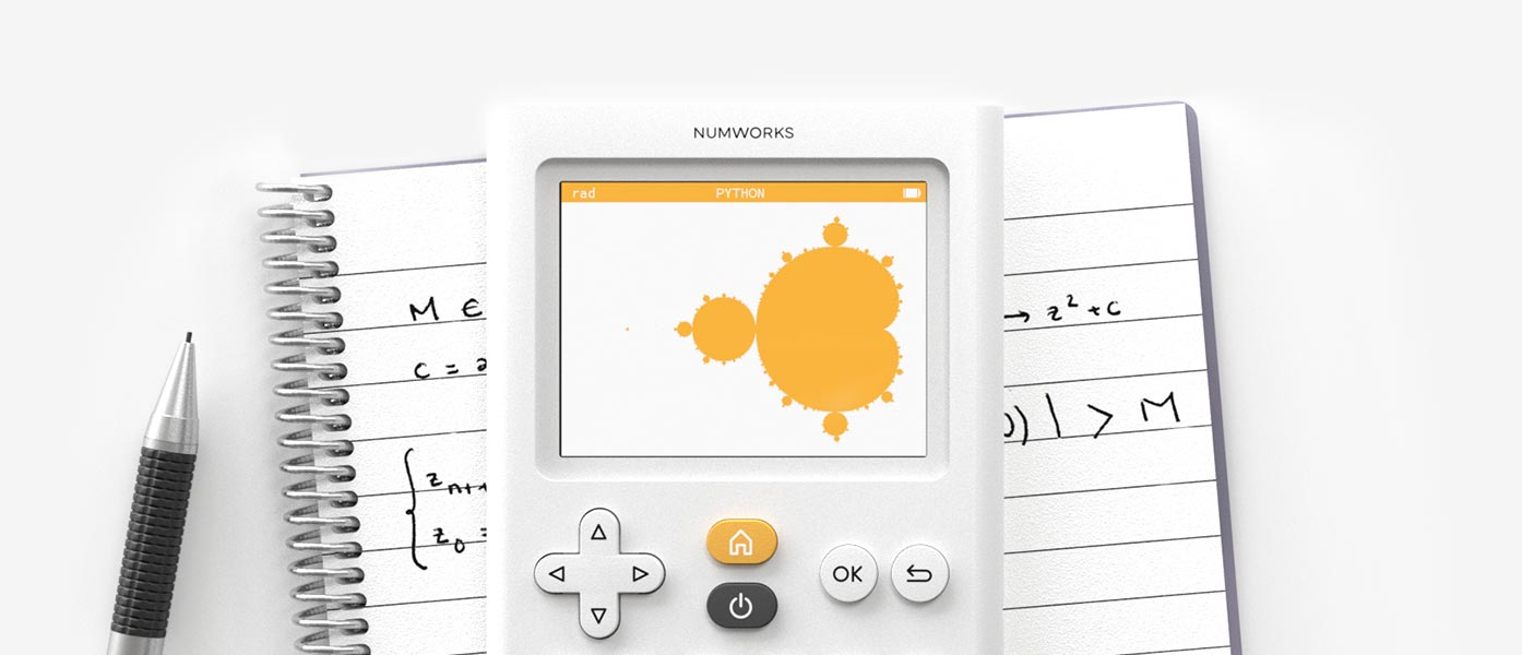 Python app on the NumWorks graphing calculator